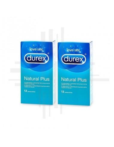 DUREX NATURAL PLUS PACK 2 X 12 UD 50 %
